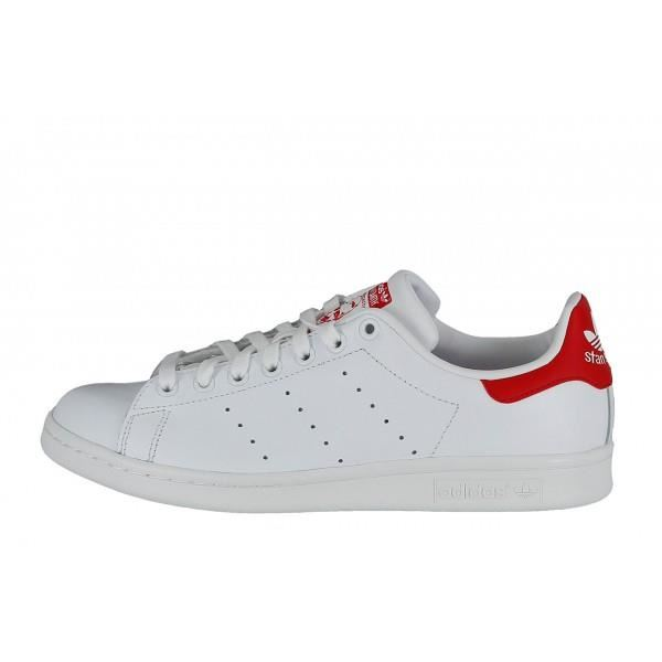 chaussure adidas rouge et blanc